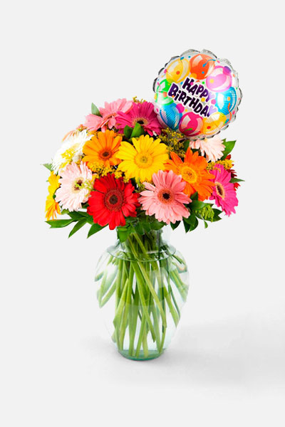 Chispas de colores- Happy Birthday! - Flores