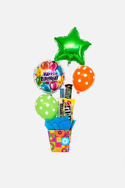 Arreglo de Globos -  Happy Birthday